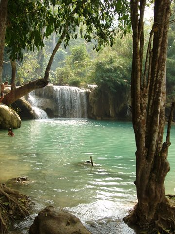 Kouang Si Waterfall Luang Prabang, Laos