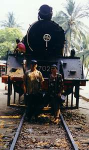 Railway at Sai Yok Waterfall, Kanchanaburi Province (Sai Yok National Park)